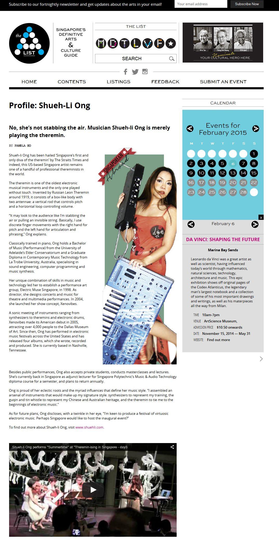 Profile Shueh Li Ong News Sp