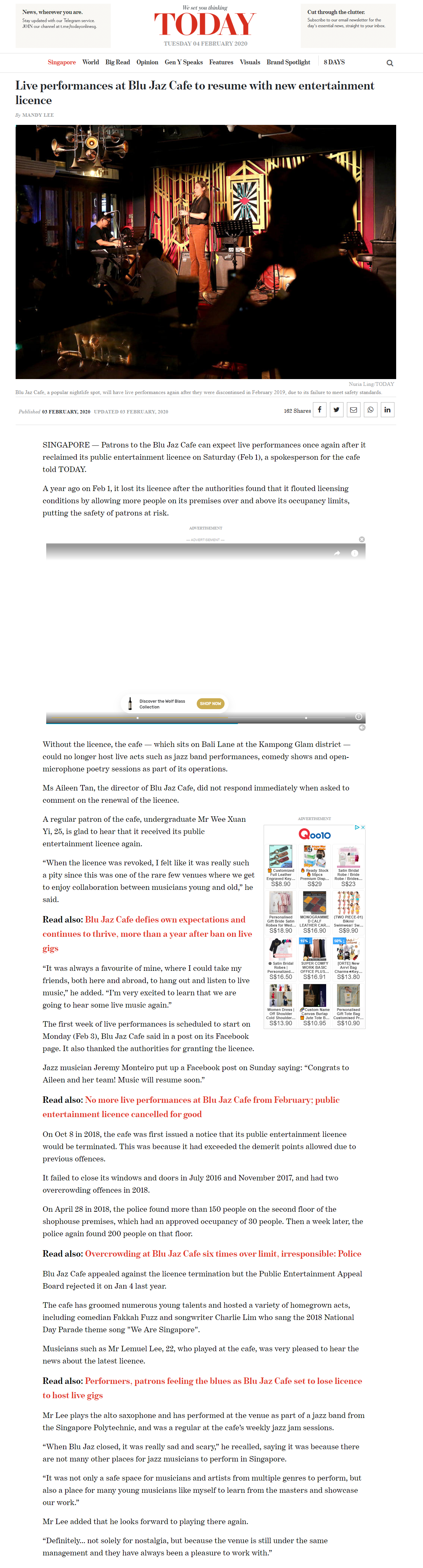 live performance at blu jaz cafe