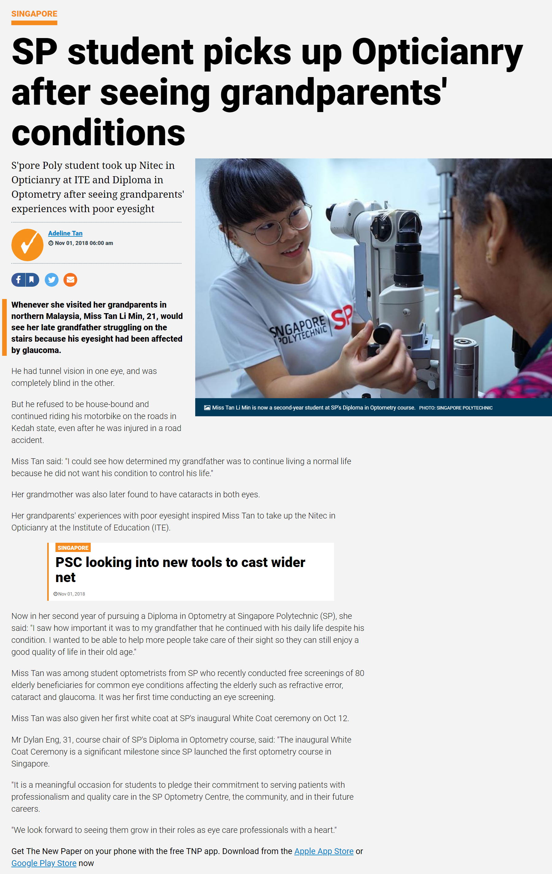SP in the news_optometry