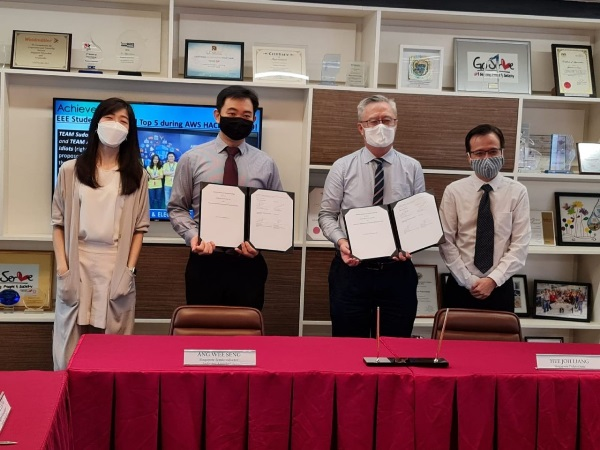 MoU signing between Singapore Polytechnic (SP) and Singapore Semiconductor Industry Association (SSIA)