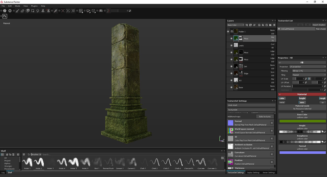 Substance Painter and Designer for Environment Design